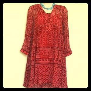 Anthropology Maeve boho swing dress